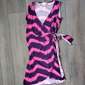 Pink and Navy Jon & Anna Wrap Dress